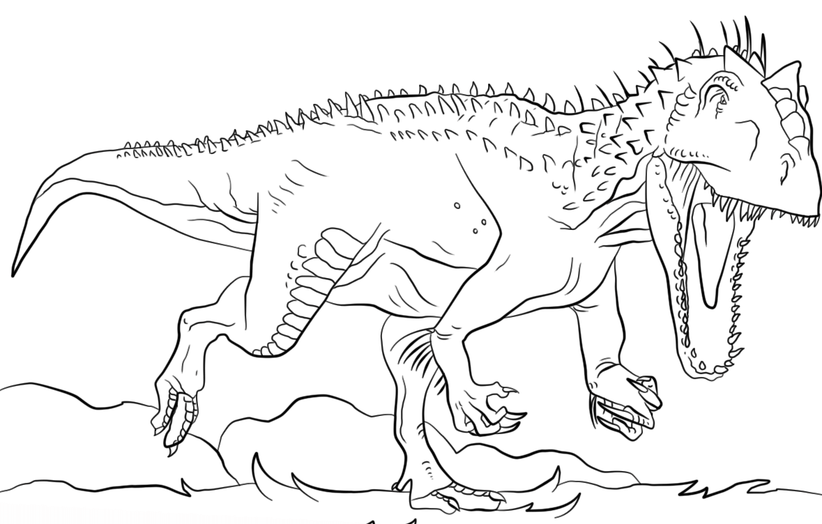 Dinosaur Jurassic Park Indominus Rex Coloring Page