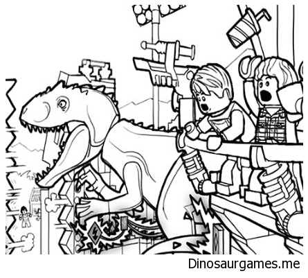 Lego Jurassic World Dinosaur Coloring Page Dinosaur Coloring Pages