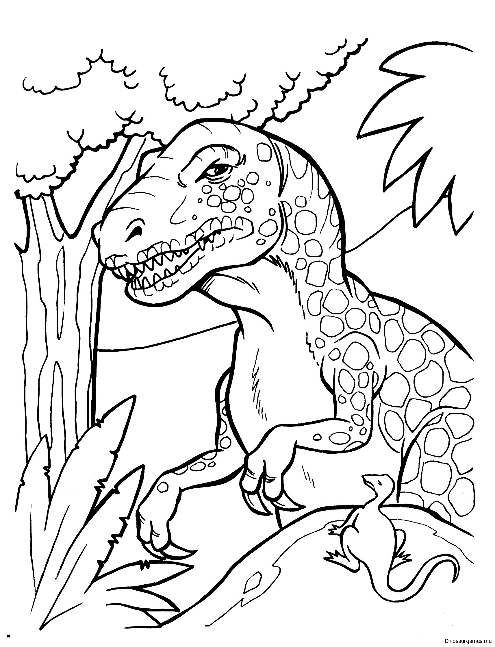 Tyrannosaur Rex Family Coloring Page - Dinosaur Coloring Pages