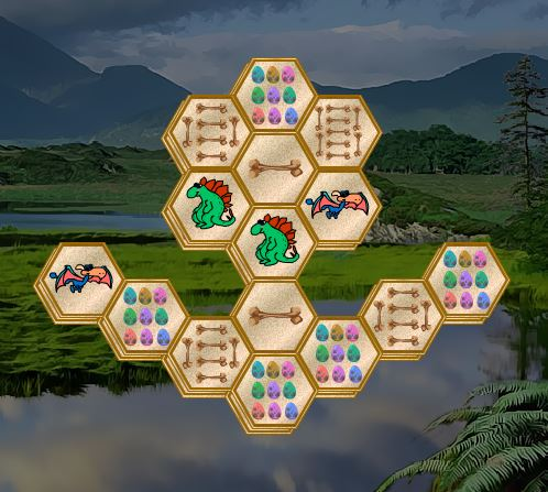 Dinosaur Hexajong Game