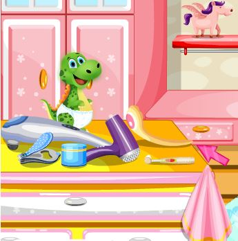 Baby dino spa salon Game