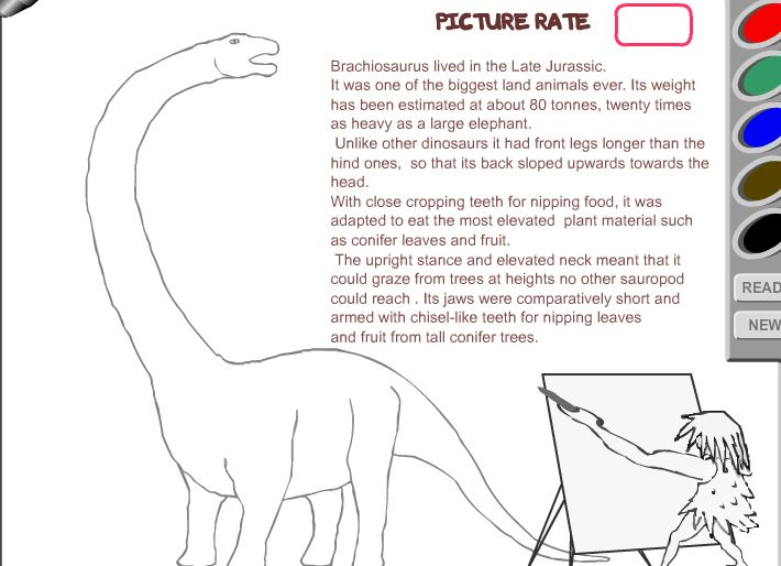 Dino paint Game