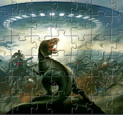 Dinosaurs Vs Aliens Jigsaw Game