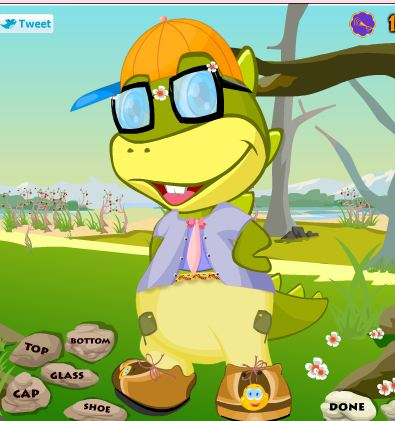 Dino Kid Dressup Game