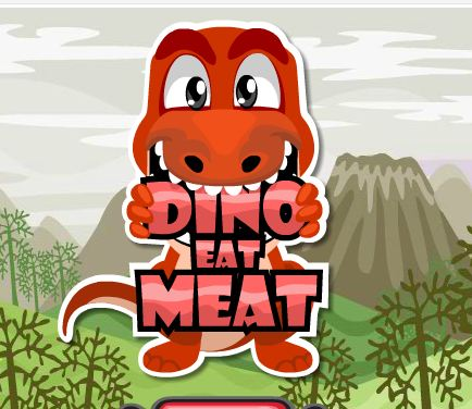 Dino Eat Meat Game