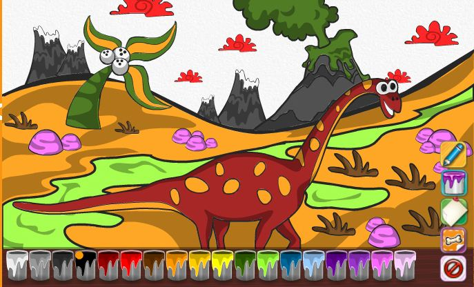 Dino Coloring Book Game