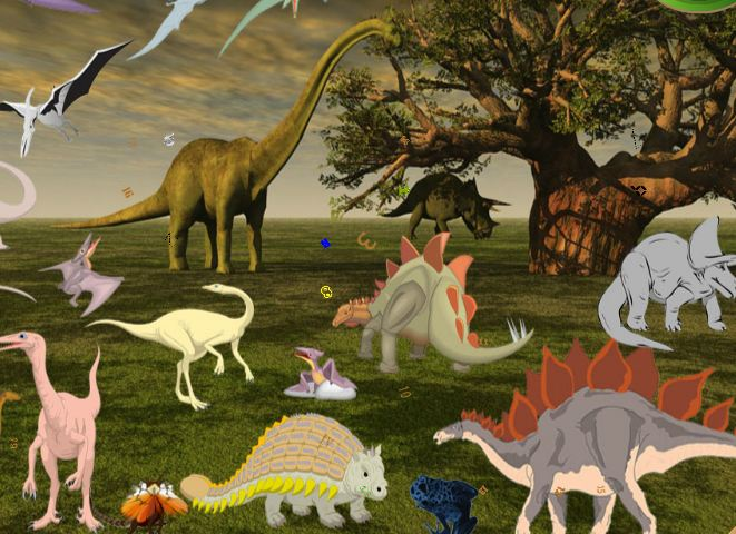 Dinosaur Planet Hidden Numbers Game
