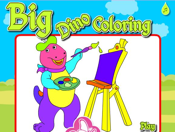 Big Dino Coloring Game