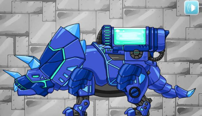 Dino Robot Tyrano And Tricera Game