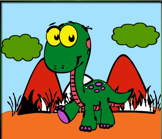 Dino Online Coloring Game