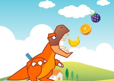 Dinosaurs Eat Fruit Game