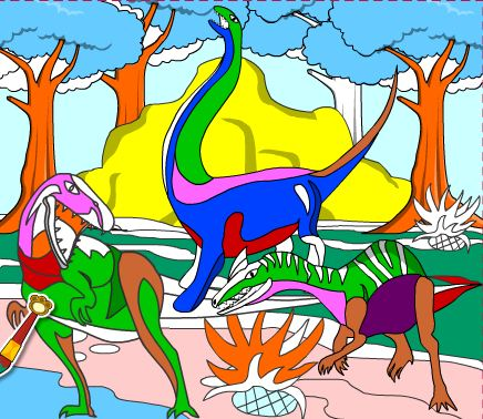 Coloring Game With Dinosaurs Game