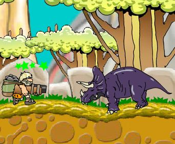 Shoot Game On Dinosaurs Game