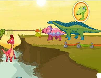 Dinosaur Train Leaf Leader Game