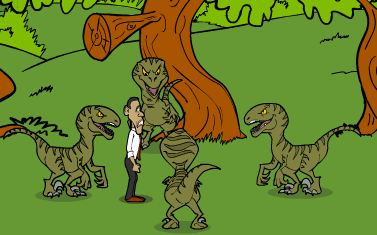 Dinosaur Game With Obama Jurassic Park Game