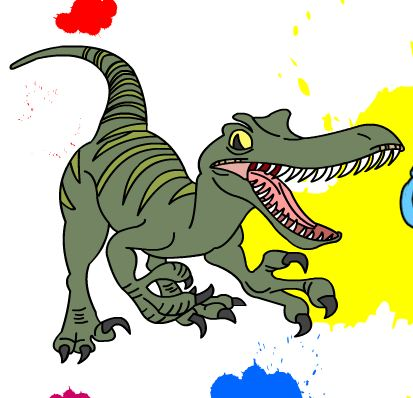 Dinosaur Online Coloring Game