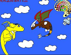 Dragon Battle Coloring Game