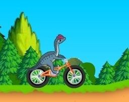 Dinosaur bike stunt Game