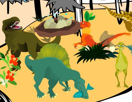 Paint Cretaceous Game