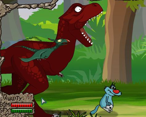 Oggy Flying Dinosaurs Game