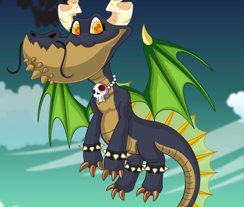 Dragon Halloween Dressup Game