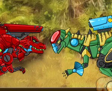 Dino Robot Battlefield Game