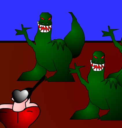 Cool Brothers In Dinosaur Hunt Game