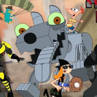 Phineas And Ferb Robot Riot Game