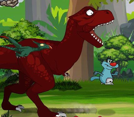 Oggy And The Cockroaches Flying Dinosaurs Game