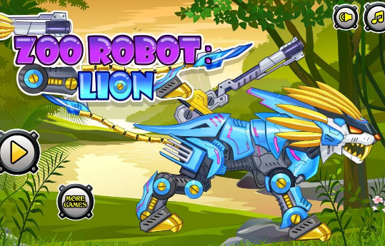 Zoo Robot Lion Game
