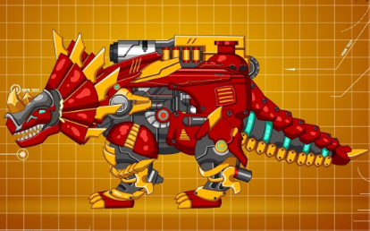Steel Dino Toy Mechanic Triceratops Game