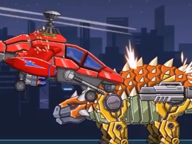 Assemble Robot War Helicopter Game