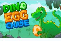 Dino Egg Chase Game