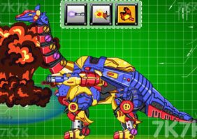 Dino Robot Necked Claws Game