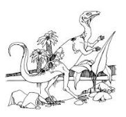 Procompsognathus Theropod Triassic Dinosaur Coloring Page Game