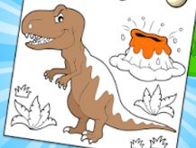 Allosaurus Dinosaur Coloring Page Game