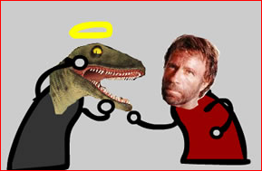 Raptor Jesus Vs Chuck Norris Game