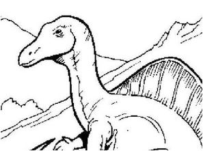 Dinosaur With a Long Tail Coloring Page Game