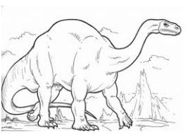Dinosaur Plateosaurus Coloring Page Game