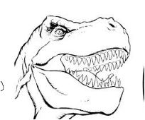 The Dinosaur Head Coloring Page Game