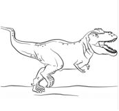 Dinosaur T Rex Coloring Page Game