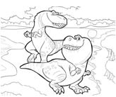 The Good Dinosaur 3 Coloring Page Game