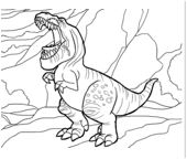 The Good Dinosaur 4 Coloring Page Game