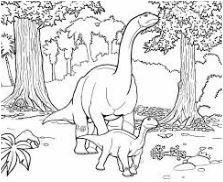 Dinosaur Sauropod Coloring Page Game