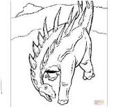 Dinosaur Armored Coloring Page Game