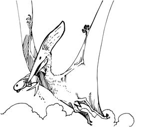 Dinosaur Pteranodon Pterosaur Coloring Page Game