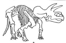 Dinosaur Only Bones Left Coloring Page Game