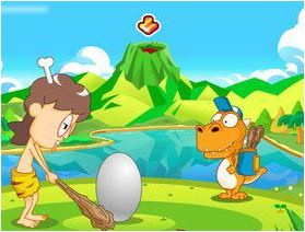 Playing Dinosaur Eggs Game