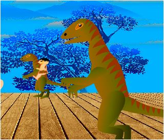 Human and Dinosaur World Game