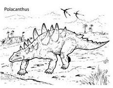 Dinosaur Polacanthus Coloring Page Game